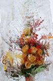 Flores congeladas Kiev, Ucrânia Imagem de Stock Royalty Free