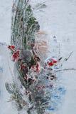 Flores congeladas Kiev, Ucrânia Foto de Stock Royalty Free