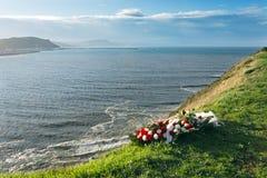 Flores conmemorativas porque muertos Foto de archivo libre de regalías