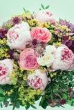 Flores cor-de-rosa bonitas da peônia. imagem retro do estilo Fotografia de Stock
