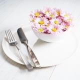 Flores cor-de-rosa do crisântemo Fotos de Stock