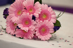 Flores cor-de-rosa do Gerbera do casamento Imagens de Stock