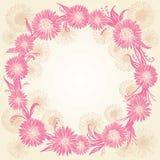 Flores cor-de-rosa e bege gráficas românticas ilustração do vetor