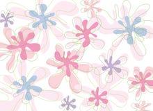 Flores cor-de-rosa macias ilustração stock