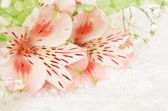 Flores cor-de-rosa para o casamento fotos de stock royalty free