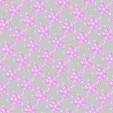 flores cor-de-rosa teste padrão textured Fotografia de Stock Royalty Free