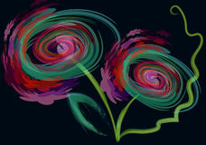 Flores creativas Imagens de Stock