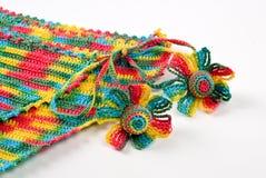 Flores Crocheted imagen de archivo libre de regalías