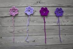 Flores Crocheted fotos de archivo libres de regalías