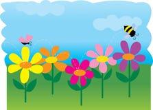 Flores da abelha ilustração stock