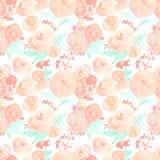 Flores da aguarela Teste padrão sem emenda Vetor Ilustração Fotos de Stock