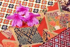 Flores da azálea no pano Imagem de Stock