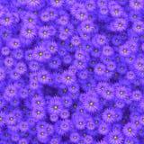 Flores da beleza que dispersam na ilustração da parede 3D Fotografia de Stock