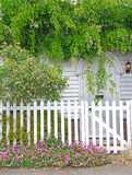 Flores da casa de campo de Kent sobre a porta Fotografia de Stock