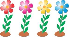 Flores da coloração por Ganeshandra Imagem de Stock Royalty Free