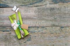 Flores da cutelaria e da mola do vintage Fotografia de Stock