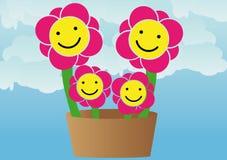 Flores da família ilustração do vetor