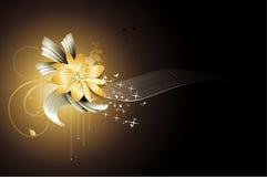 Flores da fantasia do fundo Fotografia de Stock Royalty Free