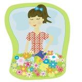 Flores da menina Ilustração do Vetor
