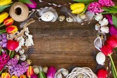 Flores da mola com ovos de easter Foto de Stock