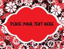 Flores da mola com quadro de texto Fotografia de Stock Royalty Free