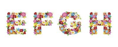 Flores da mola de EFGH Foto de Stock Royalty Free