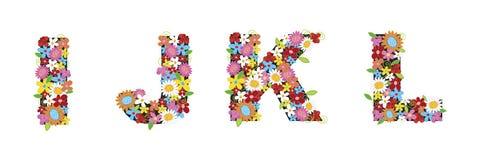 Flores da mola de IJKL ilustração royalty free