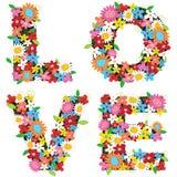 Flores da mola do AMOR imagens de stock royalty free