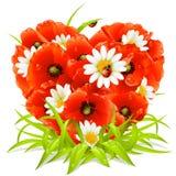 Flores da mola na forma do coração ilustração do vetor