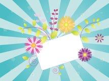 Flores da mola no sunburst Foto de Stock Royalty Free
