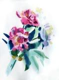 Flores da pintura Imagem de Stock