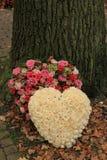 Flores da simpatia perto de uma árvore Foto de Stock Royalty Free