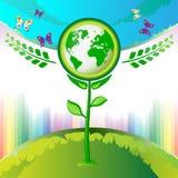 Flores da terra de Eco Imagens de Stock