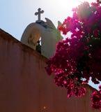 Flores da torre de sino da igreja fotos de stock