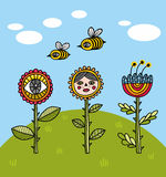 Flores das horas de verão ilustração royalty free