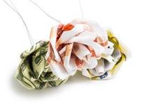 Flores de billetes de banco Imagenes de archivo
