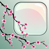 Flores de cereja ilustração stock