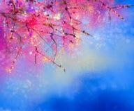 Flores de cerejeira da pintura da aquarela - cereja japonesa ilustração do vetor