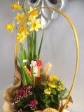 Flores de cesta Fotografia de Stock Royalty Free