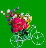 Flores de costura hechas a mano Fotos de archivo libres de regalías