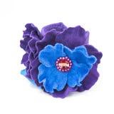 Flores de couro isoladas no branco Imagem de Stock Royalty Free