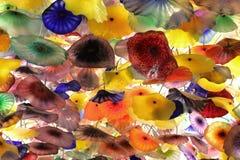 Flores de cristal coloridas Foto de archivo libre de regalías