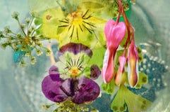 Flores de Decoupage Imagenes de archivo