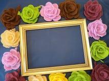 Flores de feltro - rosas imagens de stock