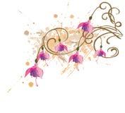 Flores de Fushia stock de ilustración