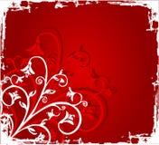 Flores de Grunge ilustración del vector