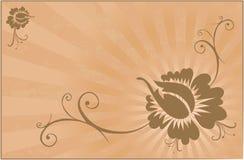 Flores de Grunge Stock de ilustración