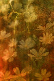 Flores de Grunge Imagen de archivo