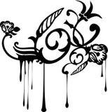 Flores de Grunge do gotejamento ilustração do vetor