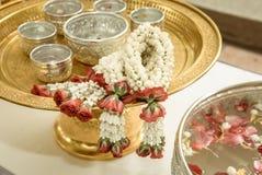 Flores de guirnalda tailandesas Imagen de archivo libre de regalías